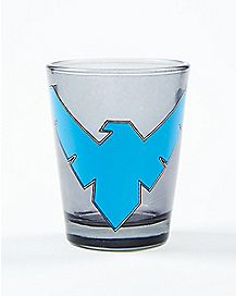 Nightwing Logo Shot Glass 1.5 oz. - DC Comics