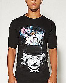 Space Hat Einstein Mens T shirt
