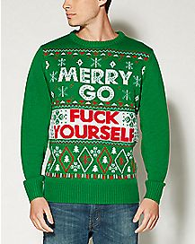 Merry Go Fuck Yourself Ugly Christmas Sweater