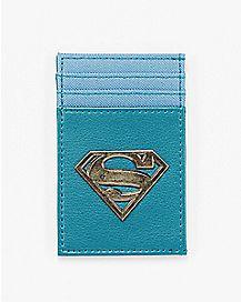 Metal Badge Superman ID Holder