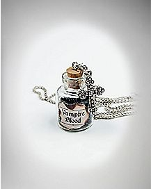Vampire Blood Jar and Cross Necklace