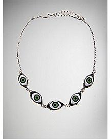 Green Eye Necklace