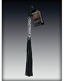 Pleasure Bound Zebra Print Flogger