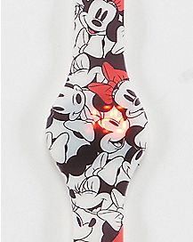 All Over Print Minnie Mouse LED Watch