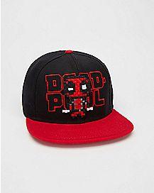 Deadpool Pixel Snapback Hat