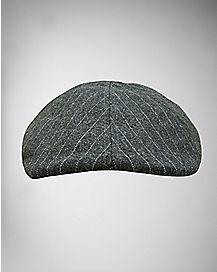 Gray Pinstripe Ivy Hat
