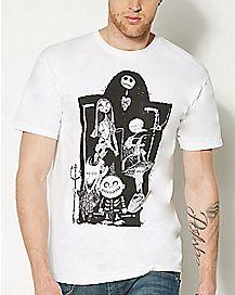 Group Gravesite Nightmare Before Christmas T shirt