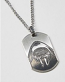 Kylo Ren Star Wars Dog Tag Necklace