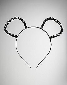 Beaded Metal Mouse Ear Headband