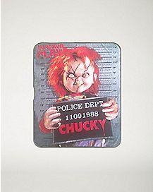 Mug Shot Wanna Play Chucky Fleece Blanket