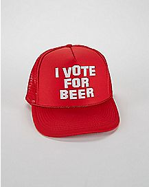 I Vote For Beer Trucker Hat