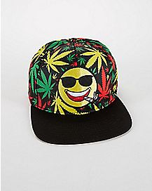 Rasta Smile Snapback Hat