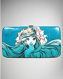 Blue Ariel Sketch Hinged Wallet