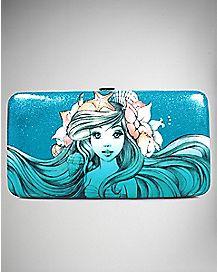 Blue Ariel Sketch Hinged Wallet