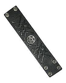 Black Laced Pentagram Cuff