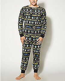 Adult Jingle Bells Batman Smells One-Piece Pajamas