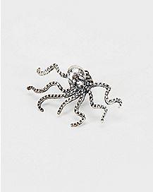Silver Octopus Ear Cuff