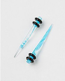 Blue and White Marble Taper 2 Pack