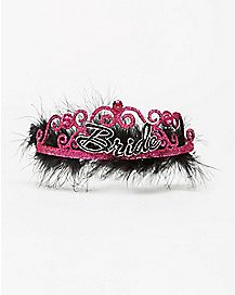 Feather Bride Bachelorette Tiara