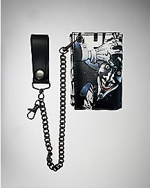 The Joker Trifold Chain Wallet