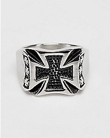 Black Cross Ring
