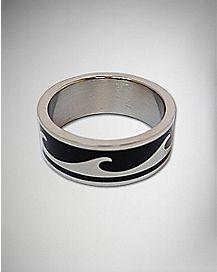 Black Wave Ring
