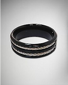 Black with Rope Ring