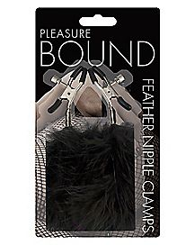 Pleasure Bound Feather Nipple Clamp 2 Pack