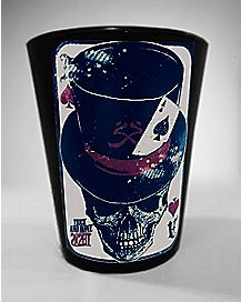 Ace Of Spades Skull Shot Glass