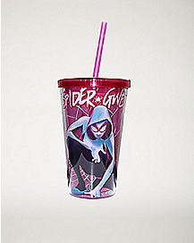 Web Spider Gwen Cup With Straw 16 oz