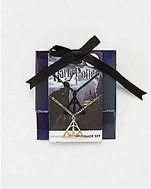 Black Harry Potter Necklaces 2 Pack