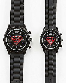 Superman & Supergirl Watch 2 Pack - DC Comics