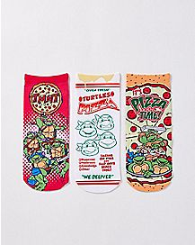 TMNT Pizza Party No Show Ankle Sock 3 Pair