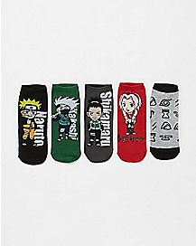 Naruto No Show Socks 5 Piece