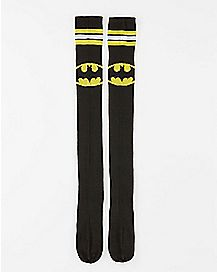 Thigh High Batman Socks Black and Yellow