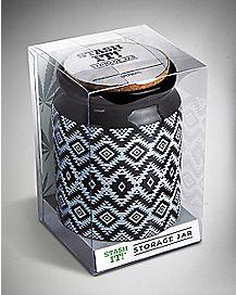 Tribal Storage Jar - 12 oz Ceramic