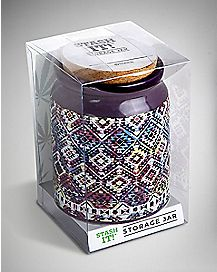 Tribal Storage Jar - 12 oz Purple