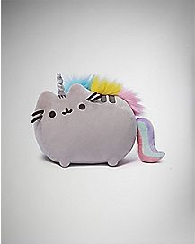 Gray Pusheen Unicorn Plush - 13 inch