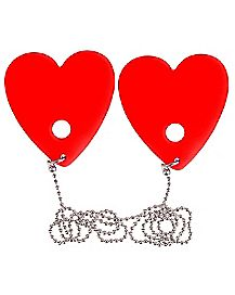Vibrating Heart Pasties - Hott Love Extreme