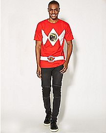 Red  Flip Costume Power Rangers Ranger T shirt