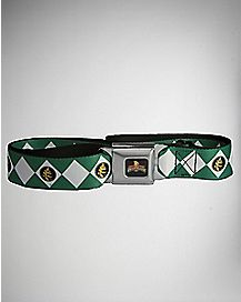Green Power Rangers Seatbelt Belt