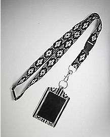 Tribal Black and White Badge ID Holder and Lanyard