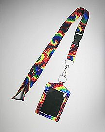 Tie Dye Badge ID Holder and Lanyard