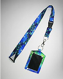 Galaxy Leaf Badge ID Holder and Lanyard