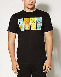 Group Faces Pokemon T shirt