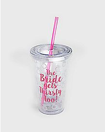 Thirst Bride Cup With Straw 16oz