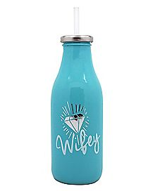 Wifey Milk Bottle with Straw 16 oz