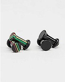 Black and Rasta Plug 4 Pack