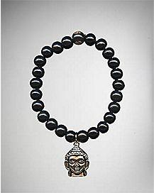 Black Buddha Beaded Bracelet