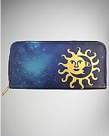 Sun And Moon Zip Wallet
